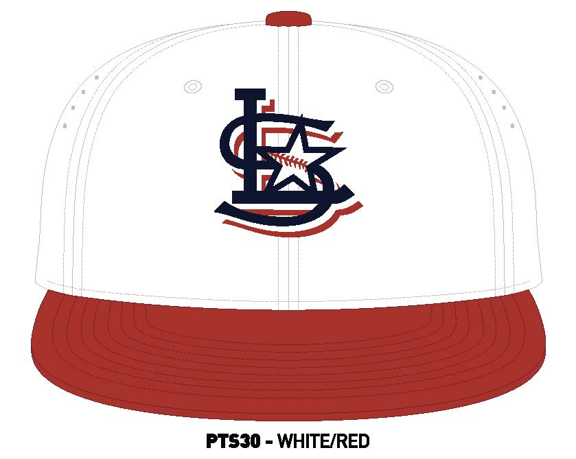 Official Game Hat for Lonestar Baseball Club White and Red