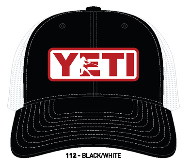YETI Batter Trucker Hat Black with Red Badge