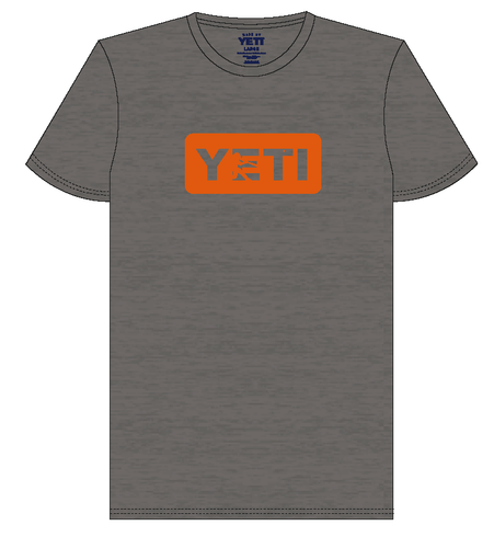 YETI Batter Gray w/ Orange