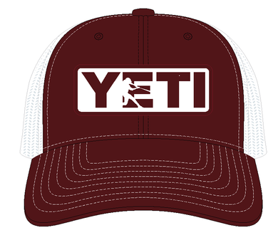 YETI Batter Trucker Hat Maroon with Badge