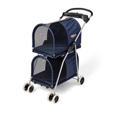 use pet stroller instead of a leash or harness