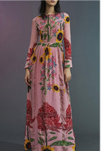 Load image into Gallery viewer, Fashion Printing Long-Sleeved Maxi Dress