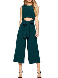 Sexy Dropped Waist Bow Jumpsuit