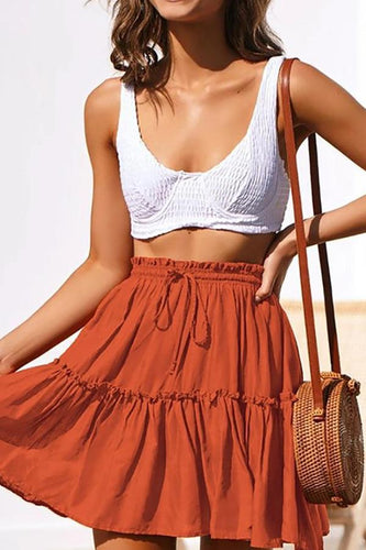 Pleated Strap Sexy Skirt