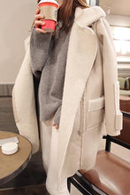 Load image into Gallery viewer, Fashion Lapel Plain Winter Long Coat