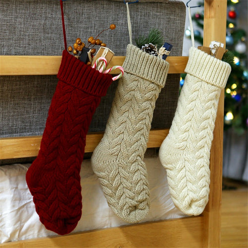 Home twist candy Christmas stockings