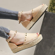 Load image into Gallery viewer, Women Creeper Sandals Casual Espadrilles Adjustable Buckle Shoes