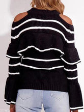 Load image into Gallery viewer, Explosive  Striped Ruffle Sweater