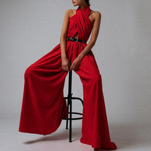 Load image into Gallery viewer, Casual Sexy Sling Off The Shoulder Backless   Pure Color Maxi Dress