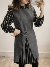 Load image into Gallery viewer, Vertical Striped Two-Piece Shift Dress