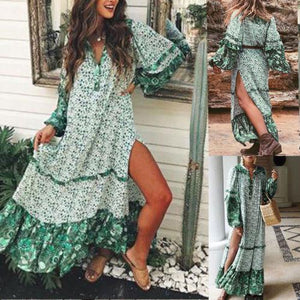 Women's Summer Boho Long Maxi Evening Party Beach Dress