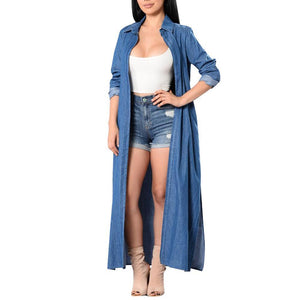 Fashion Denim Long Sleeve Casual Outerwear