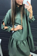 Load image into Gallery viewer, Fashion Solid Long Sleeves Mini Dress