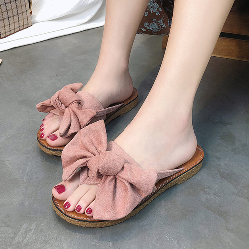 Women's Bowknot Casual Flat Slipper