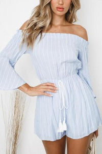 Off Shoulder Sexy Long Sleeve Playsuits Romper