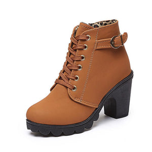 Fashion Solid Color High Heel Ankle Boots