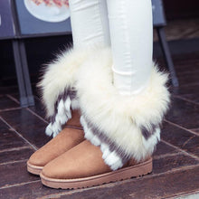 Load image into Gallery viewer, Faux Fox Fur Rabbit Snow Boots