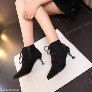 Cross Straps Short Tube Martin Boots With Pointed Toe Boots