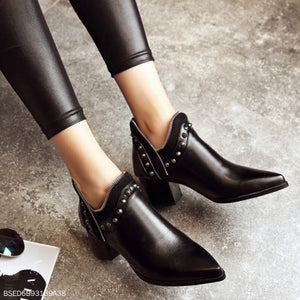 Pointed Punk Booties Women's Boots