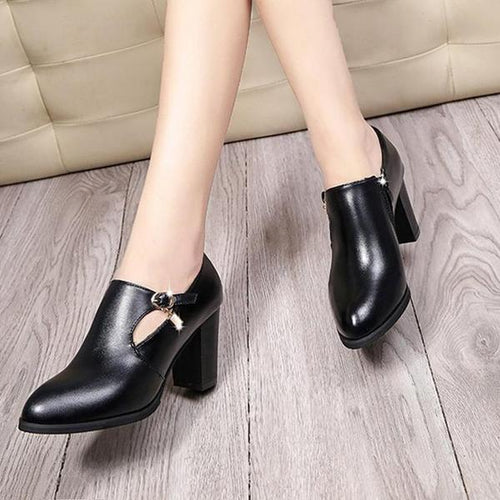 Round Head High Heel Women's Pumps