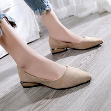 Load image into Gallery viewer, Shallow Mouth Pointed Suede Women's Shoes