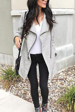 Load image into Gallery viewer, Fashion Irregularity Zipper Lapel Outerwear Cardigans