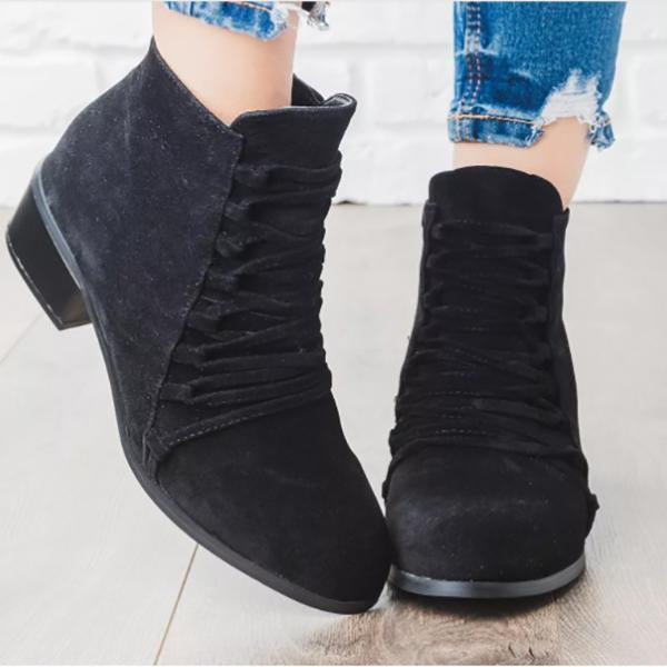 Non-Slip Thick Root Ankle Boots