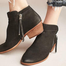 Load image into Gallery viewer, Fashion Side Zip Ankle Boots