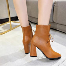 Load image into Gallery viewer, Elegant Fashion Solid Color High Tube Thick High Heel Mules Boots