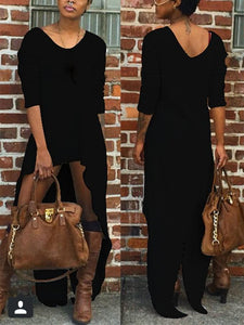 Fashion Long Sleeved Plush Dress