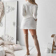 Load image into Gallery viewer, Fashion Casual Slim Solid Color Long Sleeve Bodycon Dress