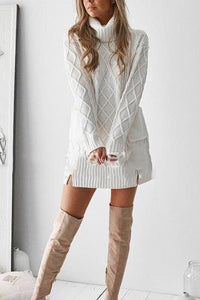 Fashion Casual Slim Solid Color Long Sleeve Bodycon Dress