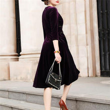 Load image into Gallery viewer, Elegant Fashion Slim Solid Color Long Sleeve Maxi Dress
