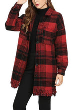 Load image into Gallery viewer, Fashion Loose Plaid Coat