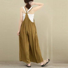 Load image into Gallery viewer, Casual Loose Plain Soft Wide Leg Jumpsuit