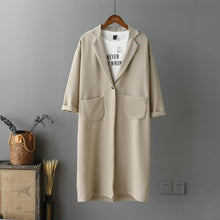 Load image into Gallery viewer, Elegant Wide Lapel Long Sleeves Oversize Plain Wind Coat