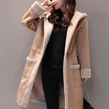 Load image into Gallery viewer, Fashion Cotton Padded Thicken Plain Loose  Long Coat