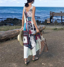 Load image into Gallery viewer, Fashion National Style Floral Print Wide Leg Jumpsuit