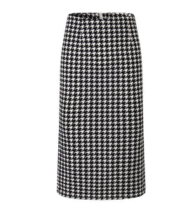 Fashion High Waist Check Printed Bodycon Skirt
