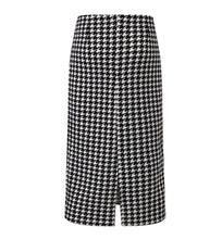 Load image into Gallery viewer, Fashion High Waist Check Printed Bodycon Skirt