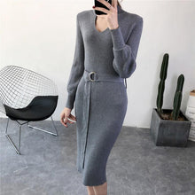Load image into Gallery viewer, Casual Sexy Pure Color Knitted Bodycon Dresses