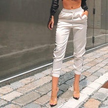 Load image into Gallery viewer, Casual Elastic Waist Color Block Casual Pants