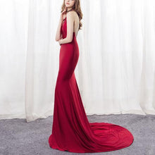 Load image into Gallery viewer, Sleeveless Halter Slim Dress   Sexy Maxi Dress