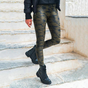 Fashion Slim Camouflage Printed Colour Casual Pant