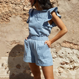 Fashion Sexy Sleeveless Jumpsuits Rompers