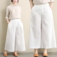 Load image into Gallery viewer, Casual Loose Plus Size   Pure Color Wide Leg Pants