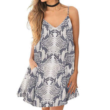 Load image into Gallery viewer, Fashion V Collar Floral Printed Vacation Dress