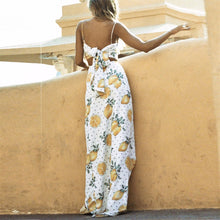 Load image into Gallery viewer, Sweet Orange Printed Slim Vacation Dress