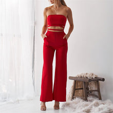 Load image into Gallery viewer, Sexy Off Shoulder Plain Slim Midriff Baring Jumpsuit