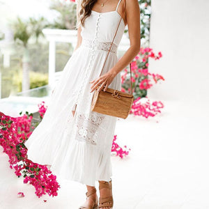 Sex Vacation Slip Lace Maxi Dress